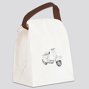 1949 Piaggio Vespa scooter Canvas Lunch Bag