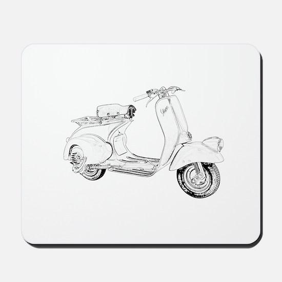 1949 Piaggio Vespa scooter Mousepad
