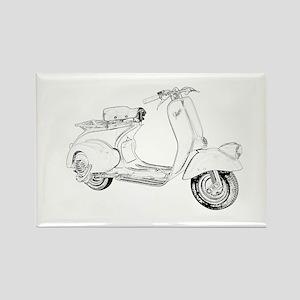 1949 Piaggio Vespa scooter Rectangle Magnet