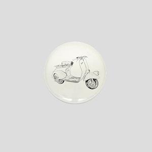 1949 Piaggio Vespa scooter Mini Button