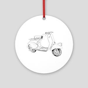 1949 Piaggio Vespa scooter Ornament (Round)