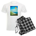Green Fields Blue Waters Men's Light Pajamas