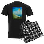 Green Fields Blue Waters Men's Dark Pajamas