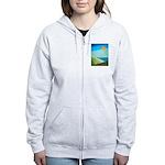 Green Fields Blue Waters Women's Zip Hoodie
