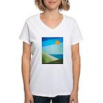 Green Fields Blue Waters Women's V-Neck T-Shirt