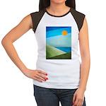 Green Fields Blue Waters Women's Cap Sleeve T-Shir