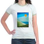 Green Fields Blue Waters Jr. Ringer T-Shirt