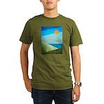Green Fields Blue Waters Organic Men's T-Shirt (da