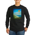 Green Fields Blue Waters Long Sleeve Dark T-Shirt