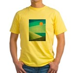 Green Fields Blue Waters Yellow T-Shirt