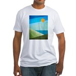 Green Fields Blue Waters Fitted T-Shirt