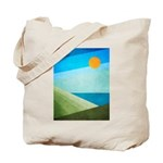 Green Fields Blue Waters Tote Bag