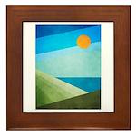 Green Fields Blue Waters Framed Tile