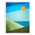 Green Fields Blue Waters Small Poster