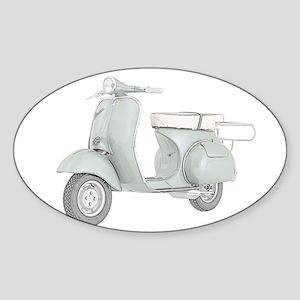 1959 Piaggio Vespa Sticker (Oval)