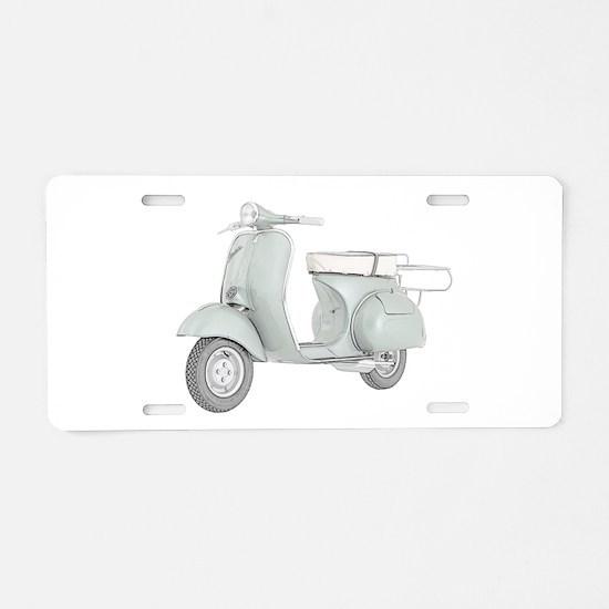 1959 Piaggio Vespa Aluminum License Plate