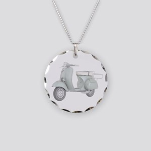1959 Piaggio Vespa Necklace Circle Charm
