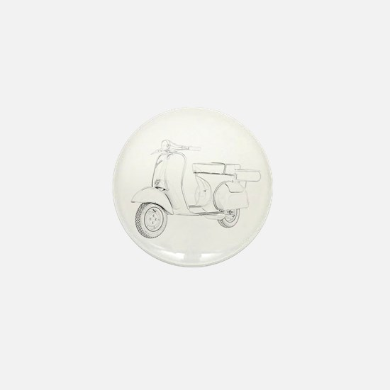 1959 Piaggio Vespa Mini Button