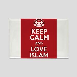 KEEP CALM AND LOVE ISLAM Rectangle Magnet