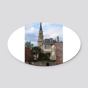 Charleston SC Church Oval Car Magnet