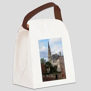 Charleston SC Church Canvas Lunch Bag