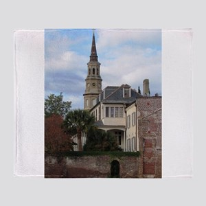 Charleston SC Church Throw Blanket