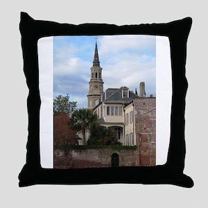 Charleston SC Church Throw Pillow