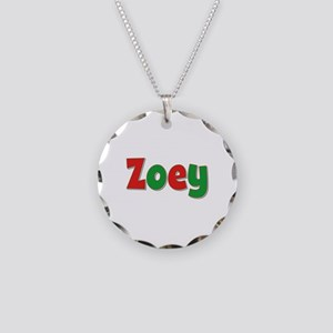 Zoey Christmas Necklace Circle Charm