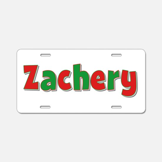 Zachery Christmas Aluminum License Plate