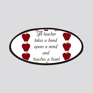 A teacher takes a hand Patches