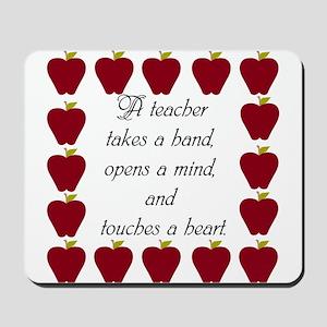 A teacher takes a hand Mousepad