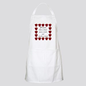 A teacher takes a hand Apron