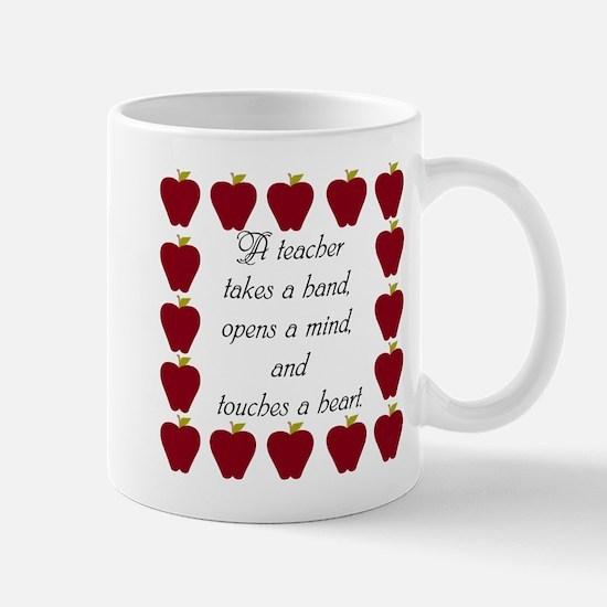 A teacher takes a hand Mug