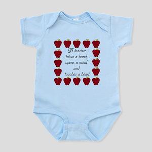 A teacher takes a hand Infant Bodysuit