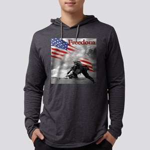 pow recrog day hr.square Mens Hooded Shirt