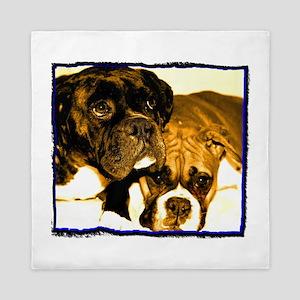 Boxer Dog Friends Queen Duvet