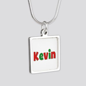 Kevin Christmas Silver Square Necklace