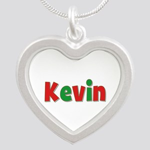 Kevin Christmas Silver Heart Necklace