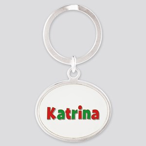 Katrina Christmas Oval Keychain