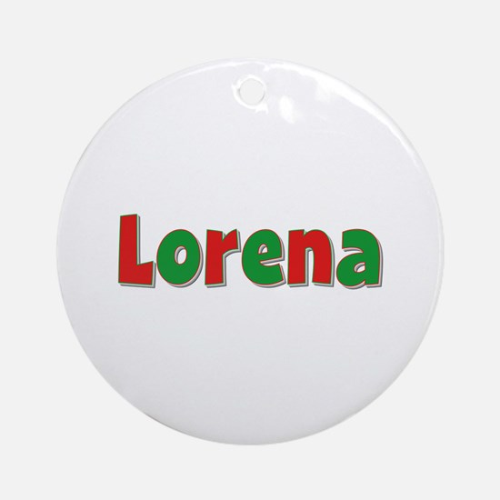 Lorena Christmas Round Ornament