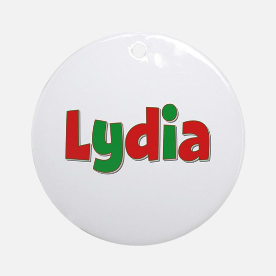 Lydia Christmas Round Ornament