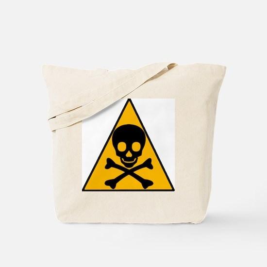 Caution Pirate Skull & XBones Tote Bag