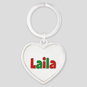 Laila Christmas Heart Keychain