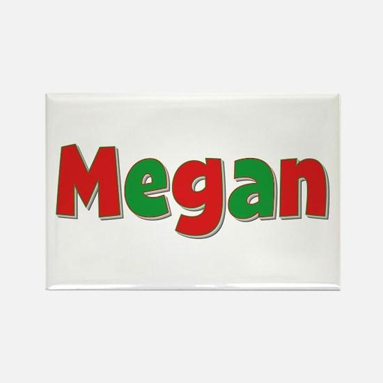 Megan Christmas Rectangle Magnet