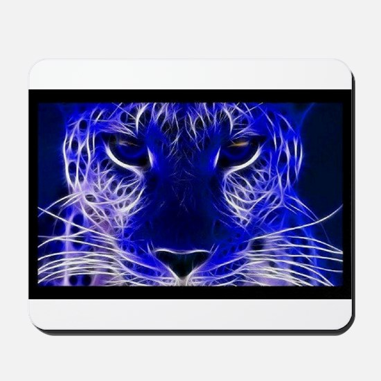 Neon Leopard Mousepad