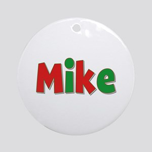Mike Christmas Round Ornament