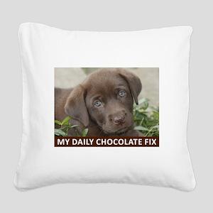 Zoe Square Canvas Pillow