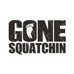 Gone Squatchin 35x21 Wall Decal