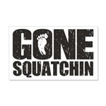Gone Squatchin 20x12 Wall Decal