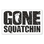 Gone Squatchin Sticker (Rectangle 50 pk)